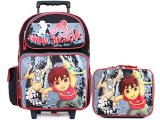 Go Diego Go with Monkey Large School Roller Backpack Lunch Bag Set