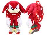 "Sonic The Hedgehog Knuckles Plush Doll Bag Custume Backpack -21"""