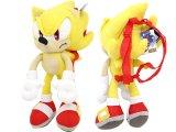 "Sonic The Hedgehog Super Sonic Plush Doll Bag Custume Backpack -22"""