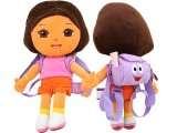 "Dora The Explorer Dora  Plush Doll Bag with Mr Backpack -20"" XL"