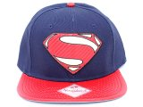 DC Comics Super Man Shield Logo Snapback Hat  Flat Bill Cap