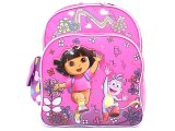 Dora The Explorer Dora & Boots School Backpack 12in Medium Bag- Pink Music