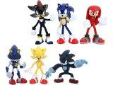 Tomy Gacha Sonic the Hedgehog Buildable Mini Figures 6pc Set