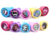Monster High Girls with Logo Self Ink Stamps Set for 10pc