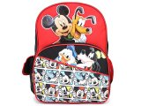 "Disney Mickey Mouse with Friends School Backpack 16"" Large Bag -Happy Go Lucky"