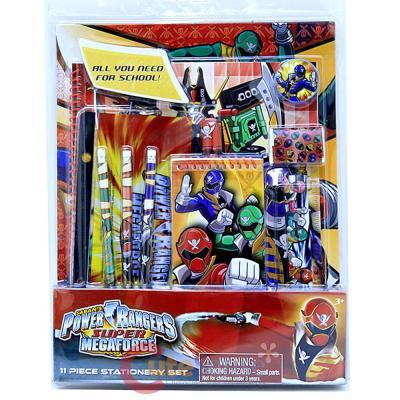 Power Rangers Super Megaforce School Stationary Set 11pc Value Pack