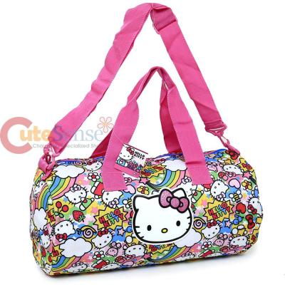 Sanrio Hello Kitty Cylinder Duffel Bag Travel Gym 20