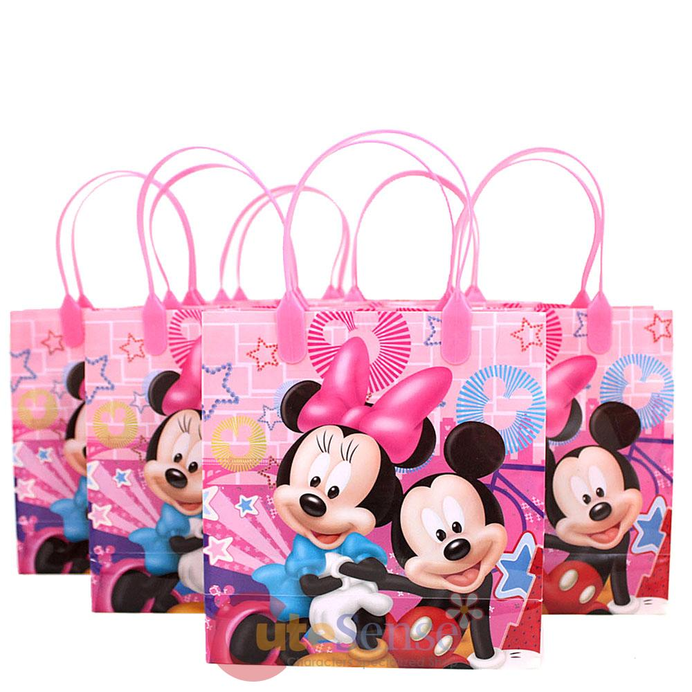 disney mickey minnie mouse gift bag set of 6 pink 8