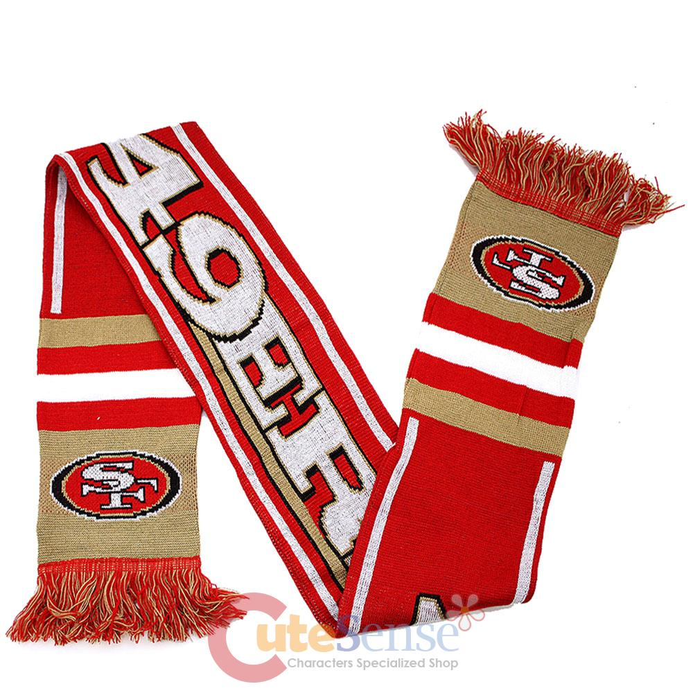san francisco 49ers kinnited scarf 62 quot nfl banner