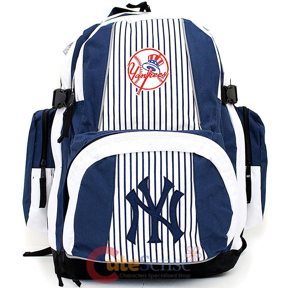 mlb new york yankees large school backpack ny team logo ny. Black Bedroom Furniture Sets. Home Design Ideas