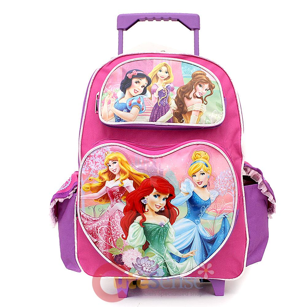 "Disney Princess with Tangled 16"" School Roller Backpack Large ..."