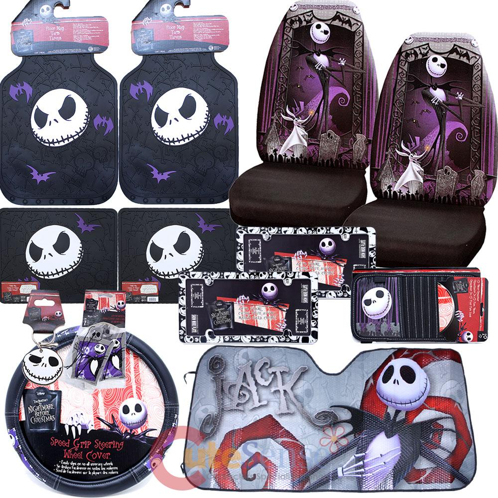 the nightmare before christmas seat covers velcromag - Nightmare Before Christmas Steering Wheel Cover