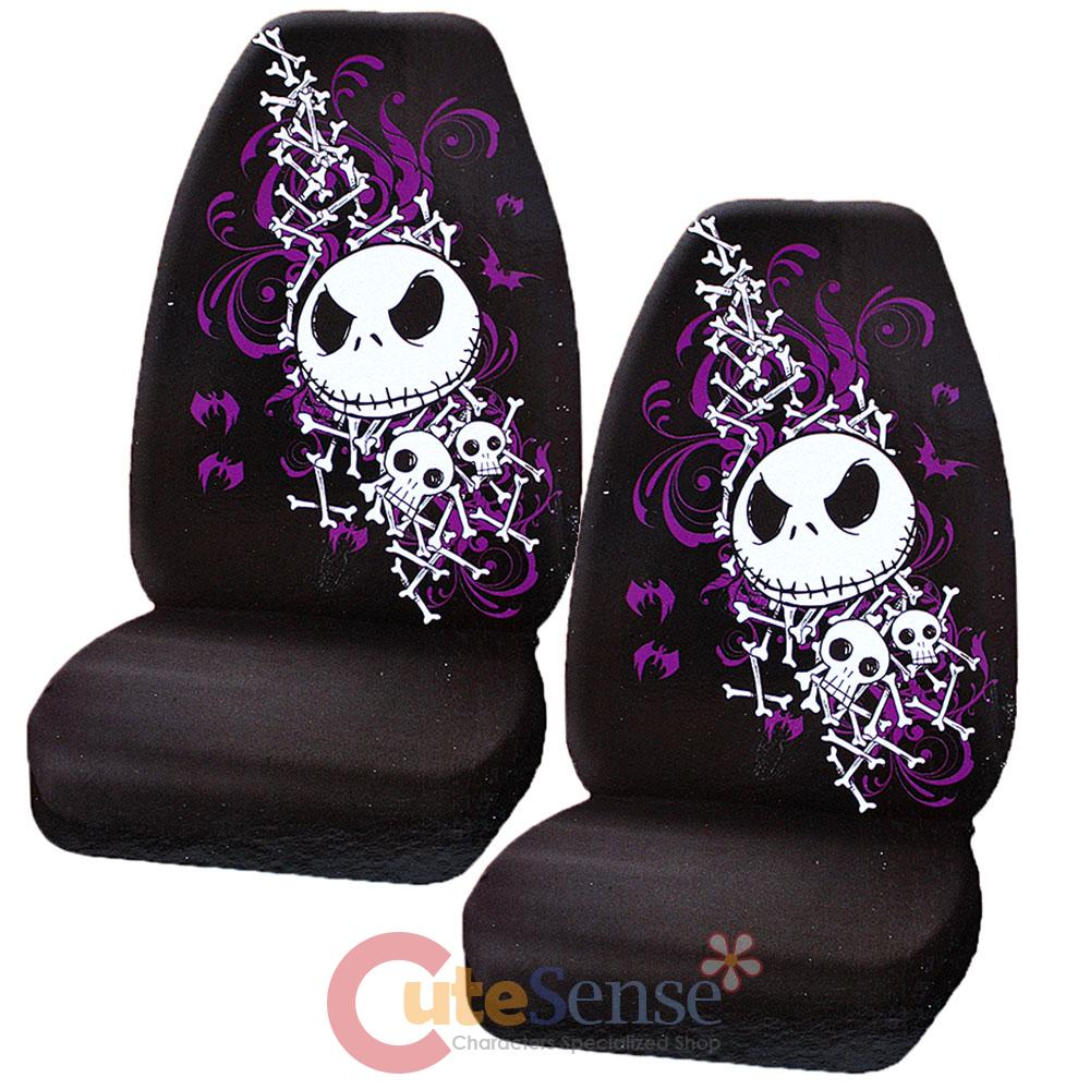 Nightmare Before Christmas Jack Bones CAR Seat Cover SET