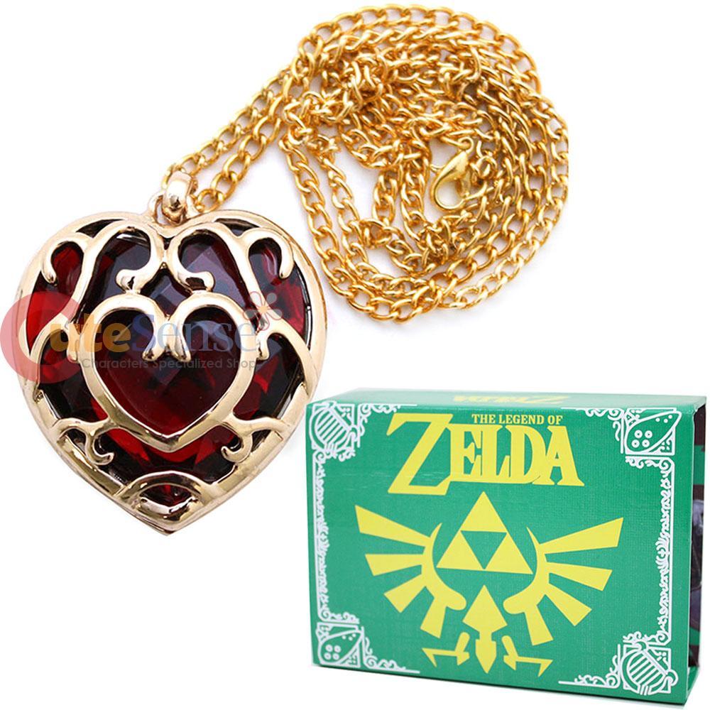 Zelda Heart Container Necklace: Legend Of Zelda Skyward Sword Heart Containers Necklace