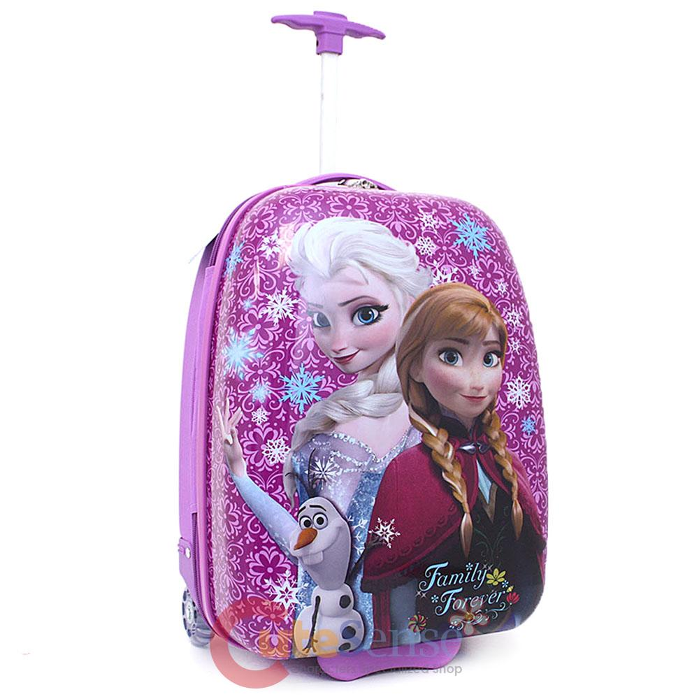 Cute bags for school ebay - Details About Disney Frozen Elsa Anna Abs Luggage Rolling Trolley Bag