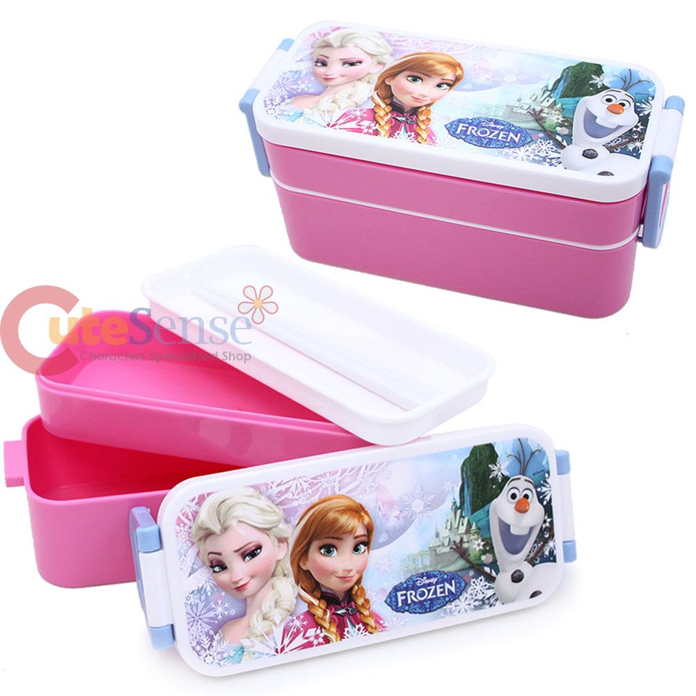 Disney Frozen Lunch Box 2 Tier Elsa Anna Food Container ...