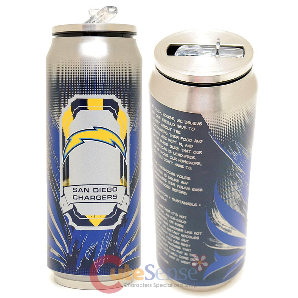 San Diego Chargers Coffee Mug: New San Diego Chargers Thermo Can Travel Tumbler Stainless