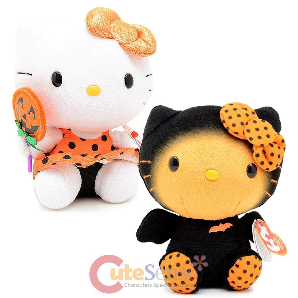 Sanrio hello kitty 6in plush doll set halloween pumpkin bat costume kitty - Hello kitty halloween ...