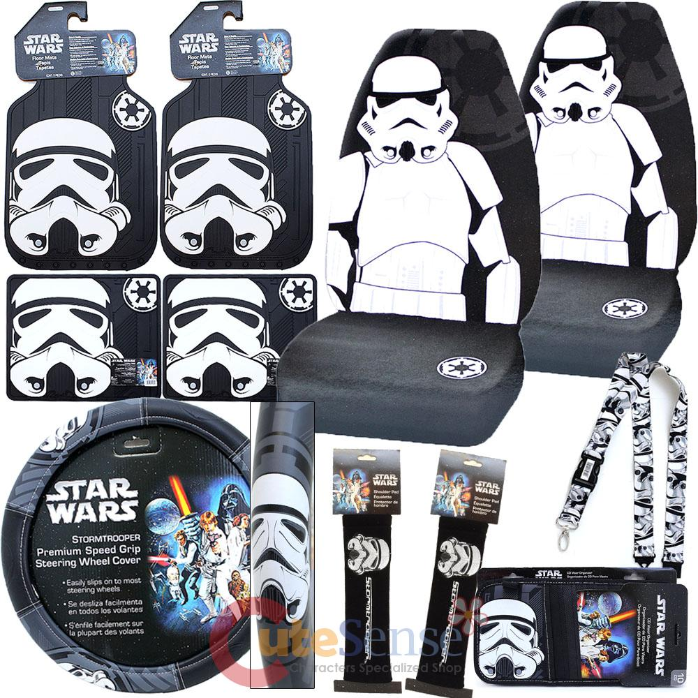 Star Wars Storm Trooper Car Seat Covers Set Auto
