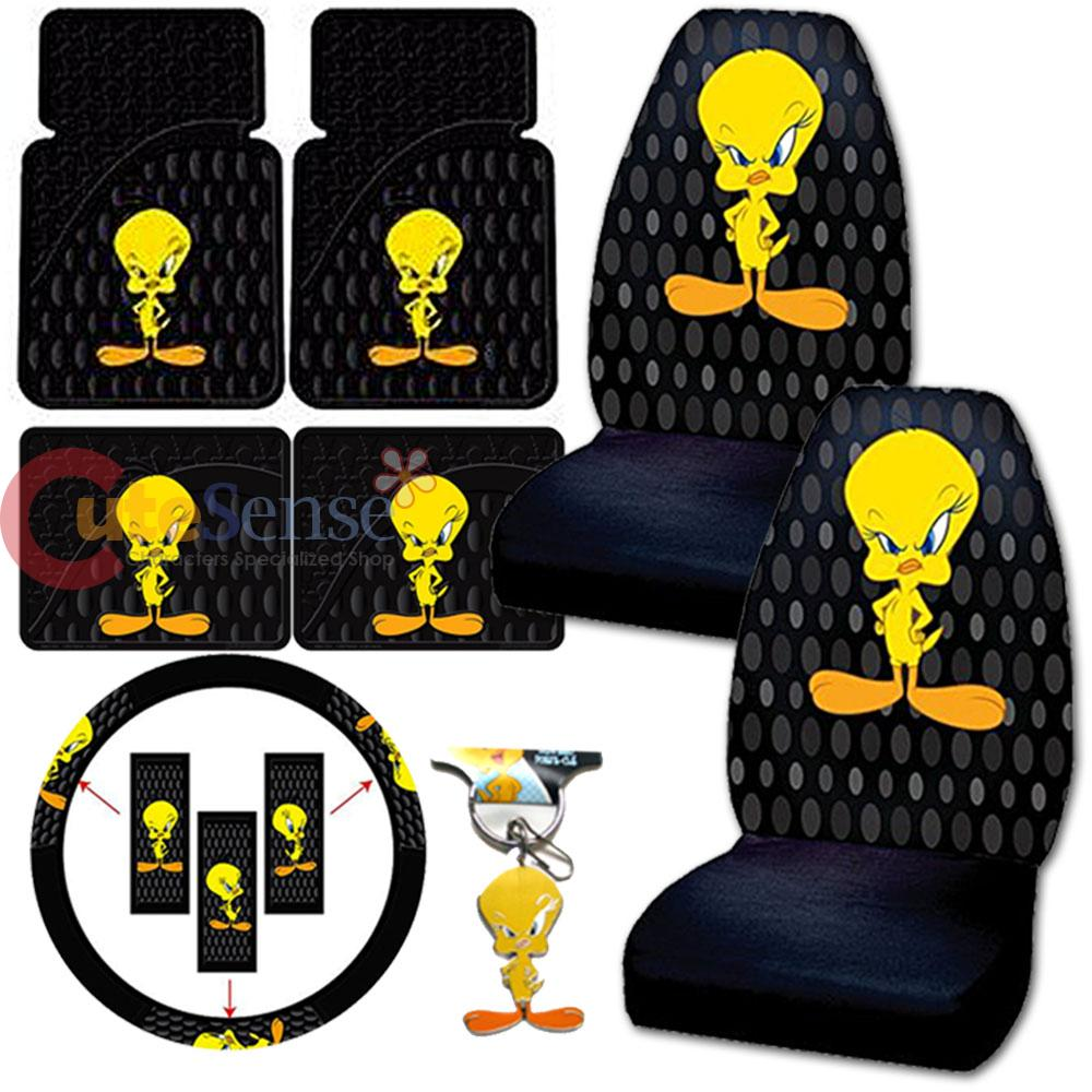 Tweey Bird Car Seat Covers Accessories 10pc Set Bubble