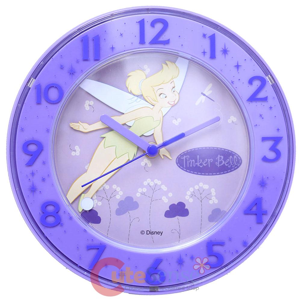Disney tinkerbell wall clock table stand clock purple magic ebay product details disney tinker bell violet round wall table stand clock watch amipublicfo Image collections