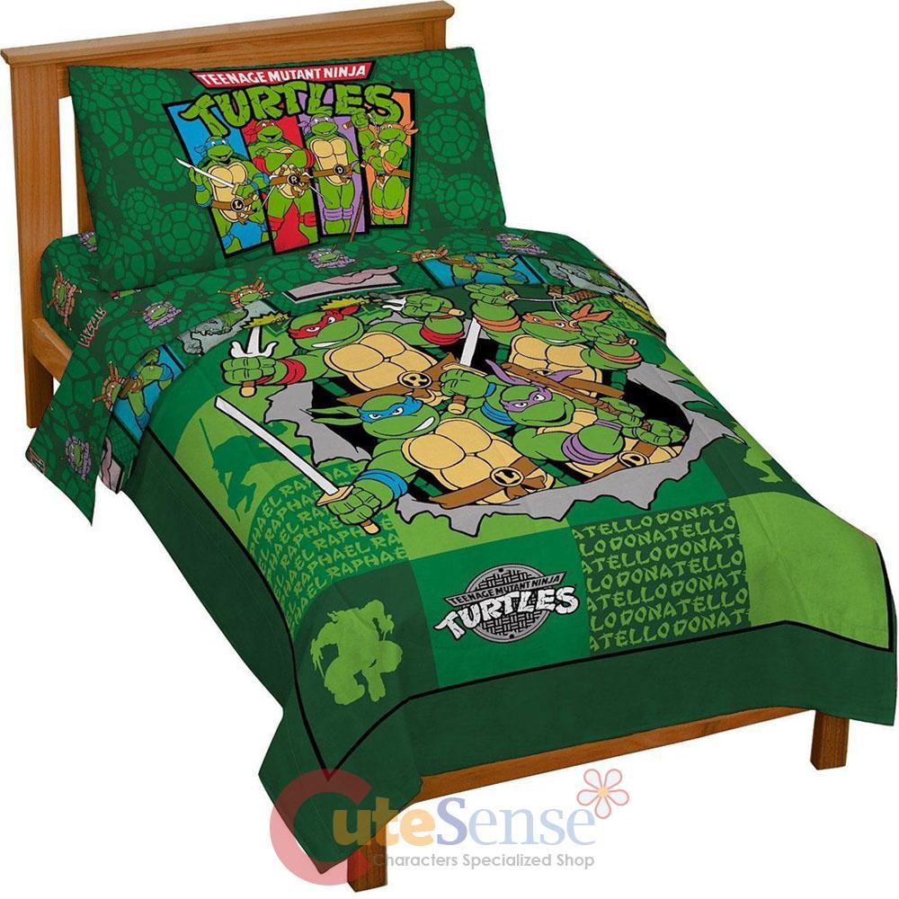 TMNT Ninja Turtles Turtle Toddler Bedding Set 4pc