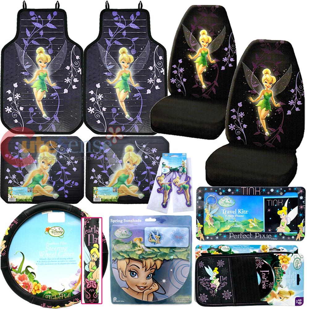 Tinkerbell Back Seat Car Covers