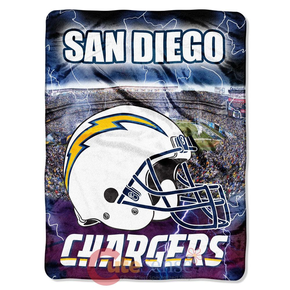 San Diego Chargers Blanket: San Diego Chargers Mink Plush Blanket Twin NFL Throw Big