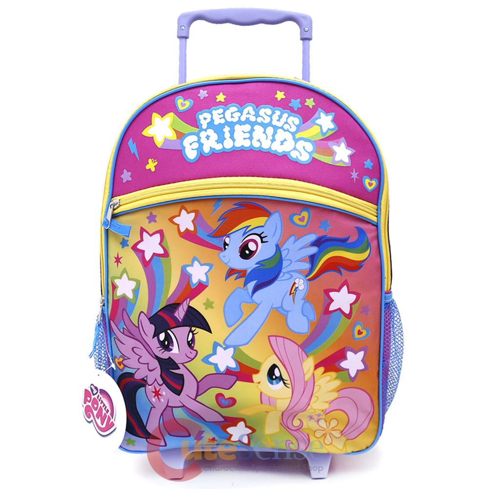 my little pony 16 large school roller backpack pegasus rolling bag trolley ebay. Black Bedroom Furniture Sets. Home Design Ideas
