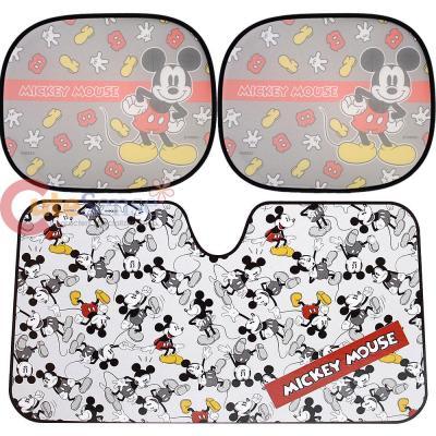 Disney Mickey Mouse Windshield and Rare Window Sun Shade 3pc Set 3249f31cb5a