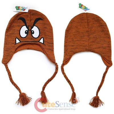 9b20973628e Super Mario Goomba Laplander Hat Beanie with Ear Flap (Teen-Adult)