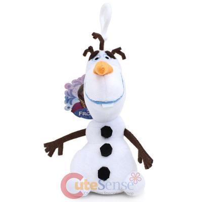 f8cbae3ed91 Disney Frozen Olaf Snowman Plush Doll Key Chain Mini Coin Bag Clip On -6