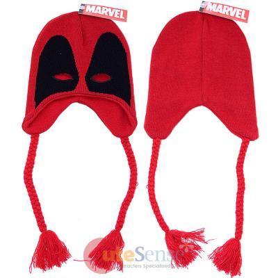 e3f869f2af6 Marvel Deadpool Mask Knitted Laplander Hat