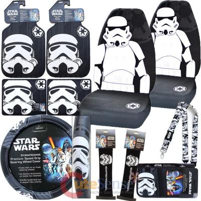 Star Wars Storm Trooper Car Seat Covers Accessories Complete 11PC Set