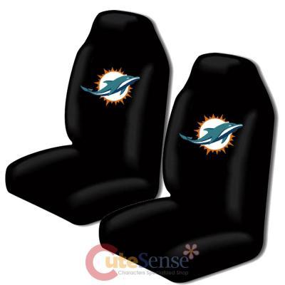 Pleasant Nfl Miami Dolphins Car Seat Cover Auto Accessories Set 2Pc Pabps2019 Chair Design Images Pabps2019Com