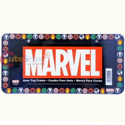 Marvel Heroes All Over Car License Plate Frame