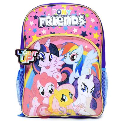 My Little Pony Large School Backpack 16in Grils Book Bag - Rainbow ...