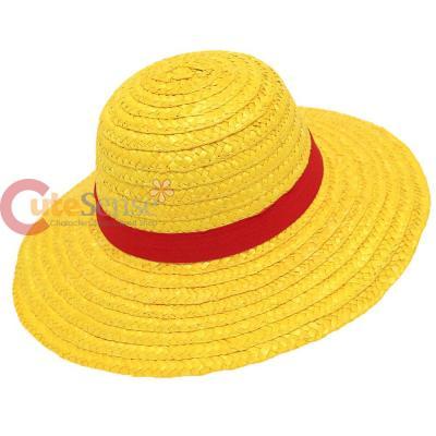 b70cc54ab92 One Piece Luffy Hat Anime Cosplay Straw Boater Beach Hat