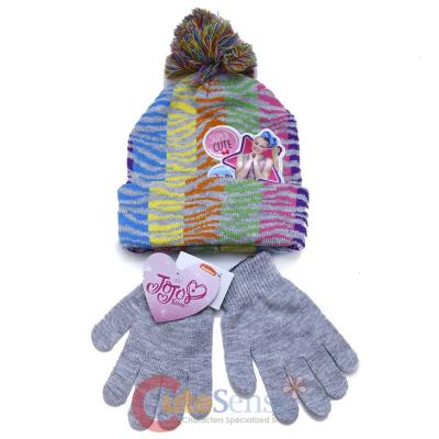3709c5ceb2d JoJo Siwa Nickelodeon Girls Beanie Knit Hat   Glove Set Pink Bow Beanie Gloves  Set One-Size JJF03140ST