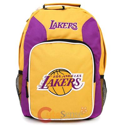 school backpack nba los angeles lakers large school backpack nba los ...