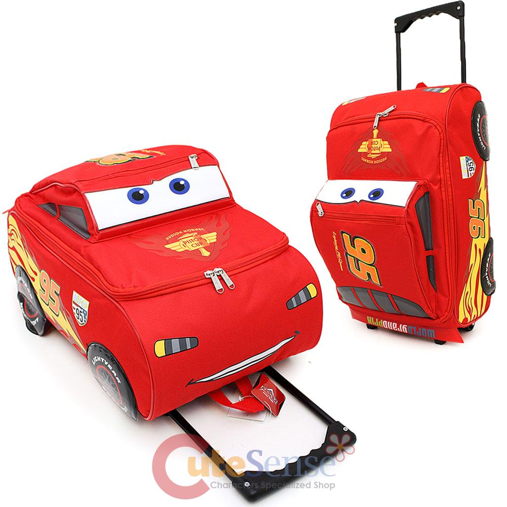 Product Details Disney Cars McQueen Rolling Luggage Suite Case Travel Bag