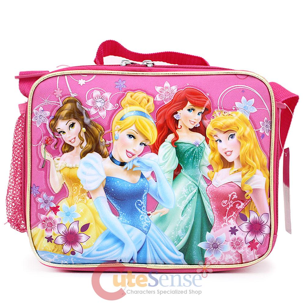Disney Princess Floral School Lunch Bag Snack Box With