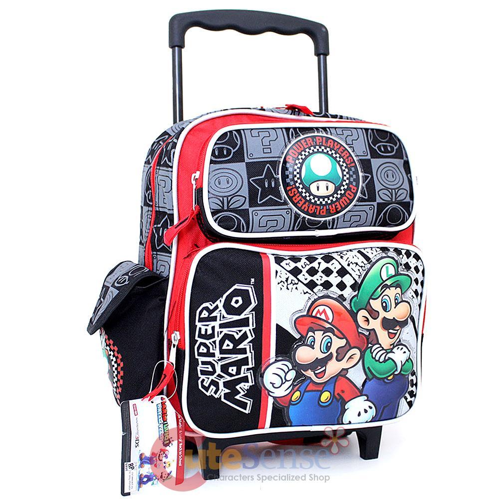 Super Mario School Roller Backpack 12