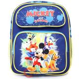 "Disney Mickey Mouse Friends School Backpack 12"" Medium  Bag -Blue"