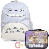 My Neighbor Totoro Large School Backpack with Cat Bus Lunch Bag