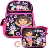 Dora The Explorer Medium School Backpack Lunch Bag Set : Flower Garden
