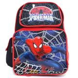 "Marvel Ultimate SpiderMan School Backpack 16"" Large Bag - Jumping in Web"