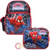 Ultimate Spider Man Medium School Backpack Lunch Bag Set : Sling In Web