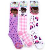Disney Jr. Doc Mcstuffins Knee High Kids Socks Set 3 Pair
