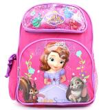"Disney Sofia The First  Medium school backpack 14"" Book Bag - Hot Pink"